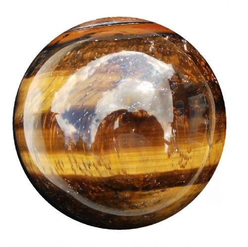 Tiger Eye Fortune Telling Gemstone Crystal Ball 53mm 220g (TE6)